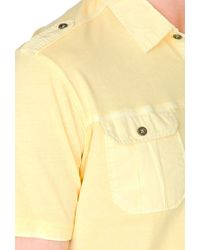 Forever 21 - Yellow Short Sleeve Military Shirt for Men - Lyst