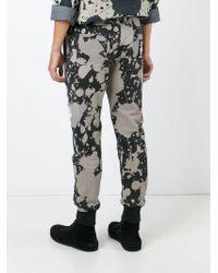 KTZ Black Printed Track Pants for men