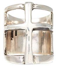 Pamela Love Metallic Silver Cross Ring