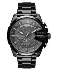 DIESEL | Black Diesel 'mega Chief' Bracelet Watch for Men | Lyst