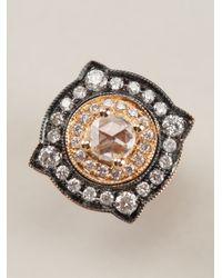 Monan | White Gold And Diamond Pavé Earrings | Lyst