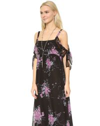 Free People | Black Tied To You Dress - Midnight Combo | Lyst