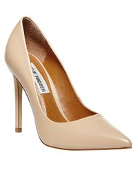 Steve Madden | Natural Proto Leather Pumps | Lyst