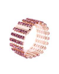 Ted Baker Pink Waya Crystal Band Bracelet