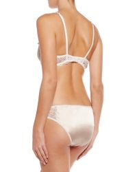 Mimi Holliday by Damaris - Pink Mr Whippy Lace-trimmed Stretch-silk Balconette Bra - Lyst