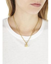 Marc By Marc Jacobs - Metallic Gold Tone Dice Necklace - Lyst