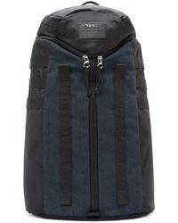 DIESEL - Black And Blue Denim Parakute Yanki Backpack for Men - Lyst
