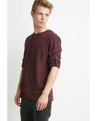 Forever 21 | Purple Speckled Henley for Men | Lyst