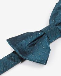 Ted Baker | Blue Pin Dot Silk Bow Tie for Men | Lyst
