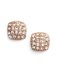 Givenchy | Metallic 'legacy' Pave Stud Earrings | Lyst