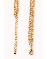 Forever 21 - Black Double Crescent Necklace - Lyst