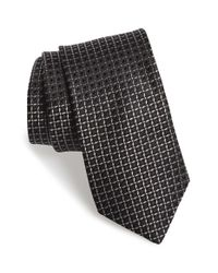 Michael Kors | Blue 'lattice' Geometric Silk Tie for Men | Lyst