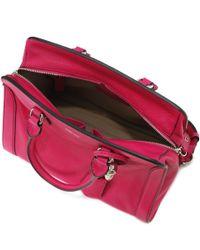 Alexander McQueen Pink Small Padlock Zip Around