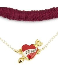 Venessa Arizaga - Metallic Women's I Love You Ok Necklace - Lyst
