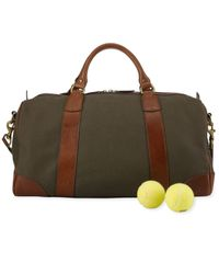 Polo Ralph Lauren Green Canvas & Leather Gym Bag for men