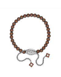 David Yurman | Petite Pave Bracelet With Orange Sapphire | Lyst