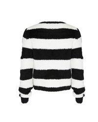 Alice + Olivia - Black Carl Fuzzy Crewneck Sweater - Lyst