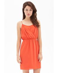 Forever 21 - Orange Contemporary Layered Surplice Cami Dress - Lyst