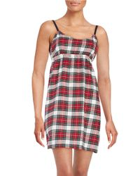 Lord & Taylor | Red Cotton Plaid Nightgown | Lyst
