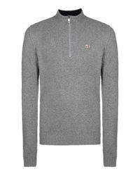 Napapijri | Gray Zip Sweatshirt for Men | Lyst