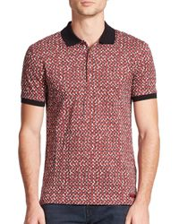 Burberry Brit | Red Fellmore Cotton Polo for Men | Lyst