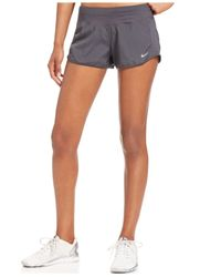 "Nike Gray 3"" Crew Running Shorts"