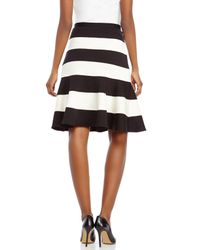 Spense | Black Color Block Skirt | Lyst