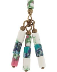 Isabel Marant Blue Sally Goldtone Beaded Tassel Necklace