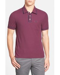 Original Penguin | Purple 'earl' Slim Fit Polo for Men | Lyst