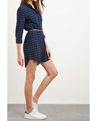 Forever 21 - Blue Belted Gingham Shirt Dress You've Been Added To The Waitlist - Lyst