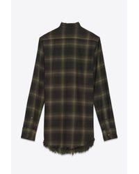 Helmut Lang | Green Wool Flannel Shirt | Lyst