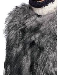 Karl Donoghue - Gray Mongolian Lambskin Shearling Boxy Gilet - Lyst