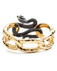 Alexis Bittar Metallic Encrusted Serpent Link Hinge Bracelet You Might Also Like