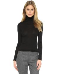 Club Monaco | Black Julie Turtleneck Top - Bordeaux | Lyst
