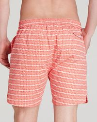 Psycho Bunny | Red Micro Bunny Tab Front Swim Trunks for Men | Lyst