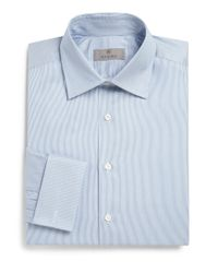 Canali   Blue Regular-fit Striped Dress Shirt for Men   Lyst