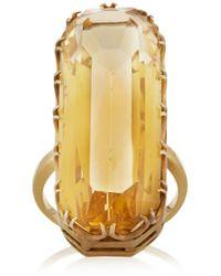 Fred Leighton - Metallic 1940S 18-Karat Gold Citrine Ring - Lyst