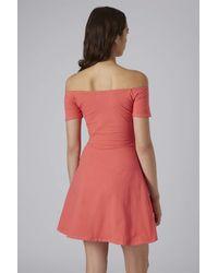 TOPSHOP Pink Catalina Dress By Motel