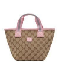Gucci - Brown Girls Gg Minibag - Lyst