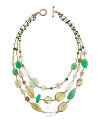 Stephen Dweck | Multicolor Bronze Mixed-Stone Statement Necklace | Lyst
