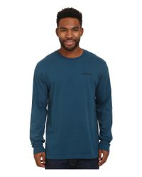 Patagonia | Blue L/s P6 Logo Cotton T-shirt for Men | Lyst