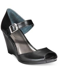 Style & Co. | Black Style&co. Bessye Mary Jane Dress Wedges, Only At Macy's | Lyst