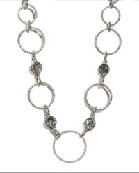 Armenta Motherofpearl Blue Topaz Triplet Circle Necklace