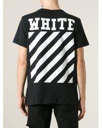 Off-White c/o Virgil Abloh Black Caravaggio-Print T-Shirt for men