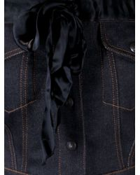 Jean Paul Gaultier Blue Strapless Denim Top