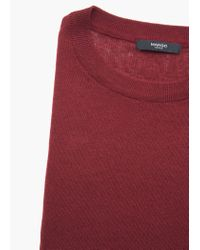 Mango | Purple Essential Cotton-blend Sweater | Lyst