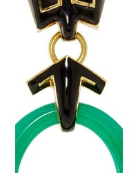 David Webb - Multicolor Scroll Hoop Earrings - Lyst