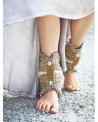 Free People - Natural Dans Ziel Ankle Cuffs - Lyst