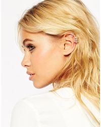 ASOS | Metallic Open Cage Ear Cuff Pack | Lyst
