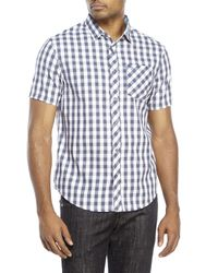 Original Penguin | Blue Classic Fit Short Sleeve Gingham Shirt for Men | Lyst